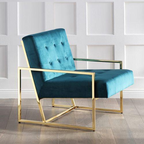 Ghế sofa Inox mạ vàng SF18