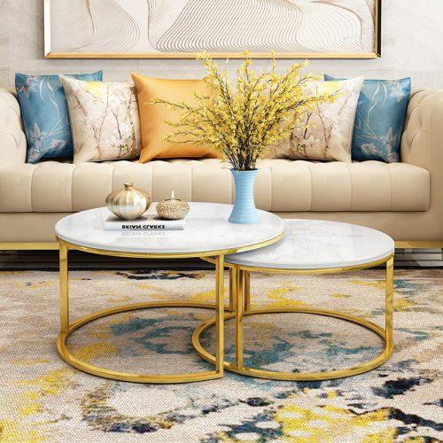 Bàn sofa đôi Inox cao cấp