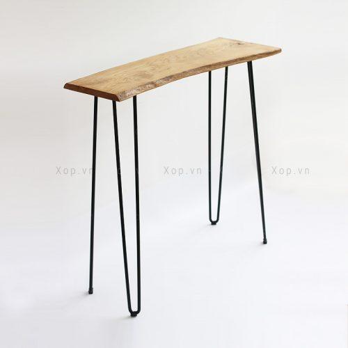 Bàn chân sắt cao mặt gỗ
