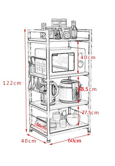Kệ để lò vi sóng đồ dùng nhà bếp đa năng KS74-2