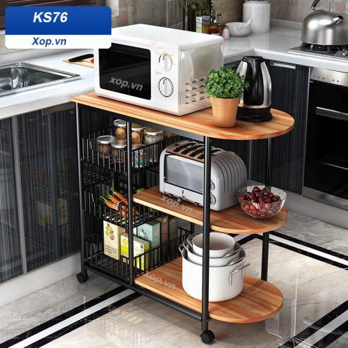 Kệ để lò vi sóng đồ dùng nhà bếp đa năng KS76