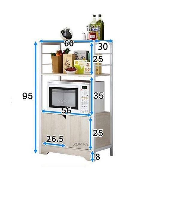 Kệ để lò vi sóng đồ dùng nhà bếp đa năng KST02