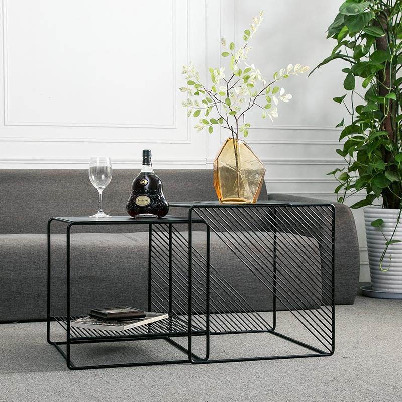 Bàn sofa đôi hình vuông – Cru