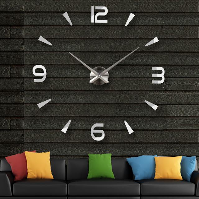 Đồng hồ 3D dán tường DT01