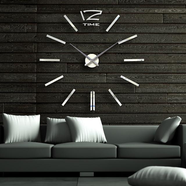 Đồng hồ 3D dán tường DT10
